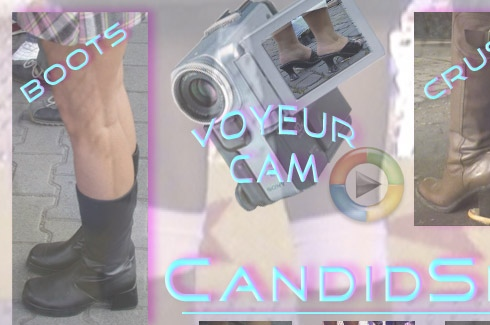 Voyeur Cam for boots and candid street clips