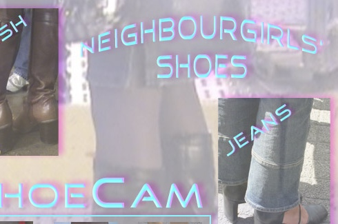 Neighbour girl and her shoes - temporarily borrowed